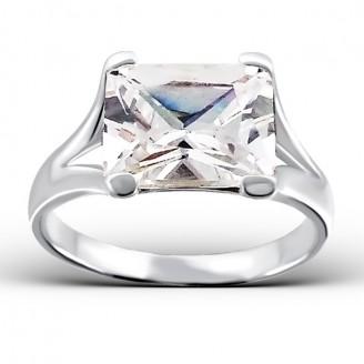 "Stříbrný prsten se zirkonem ""Elise"". Ag 925/1000"